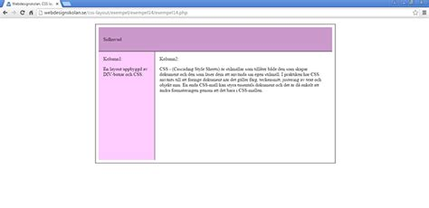 layout css php webdesignskolan css layout