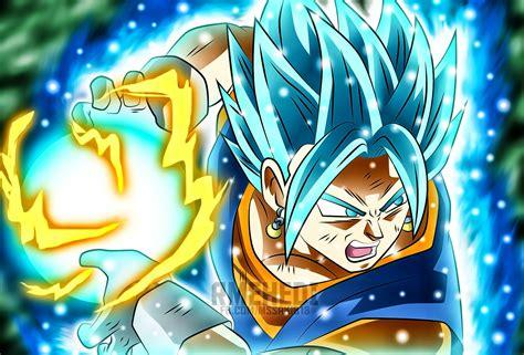 imagenes goku haciendo kamehameha vegito ssgss blue final kamehameha dragon ball z