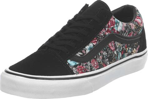 vine shoes vans skool shoes floral vines