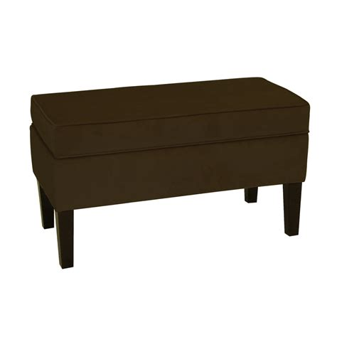 furniture benches indoor shop skyline furniture diversey chocolate indoor accent
