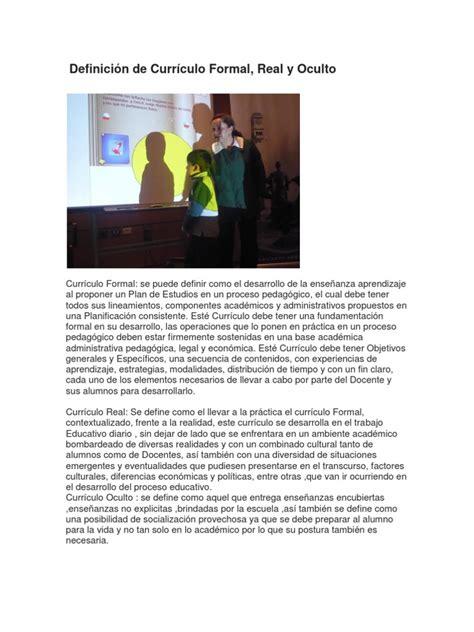 Diseño Curricular Definicion Pdf Definici 243 N De Curr 237 Culo Formal