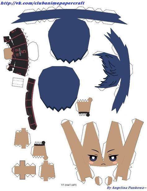 No Papercraft - aomine daiky kuroko no basuke papercraft chibi by
