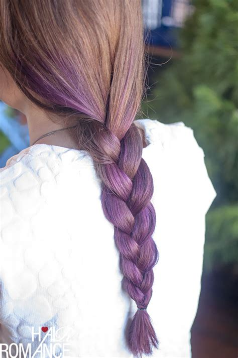 plaiting hair to grow it hair trends purple ombre hair and plaits hair romance