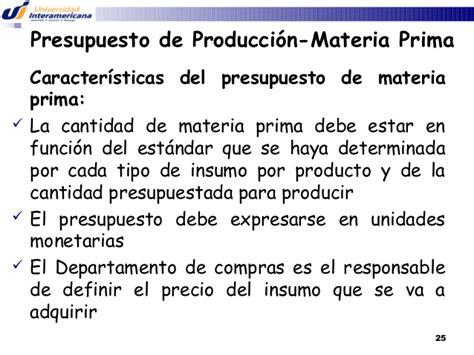 unidad 3 control de la materia prima unidad 2 y 3 presupuestos inter