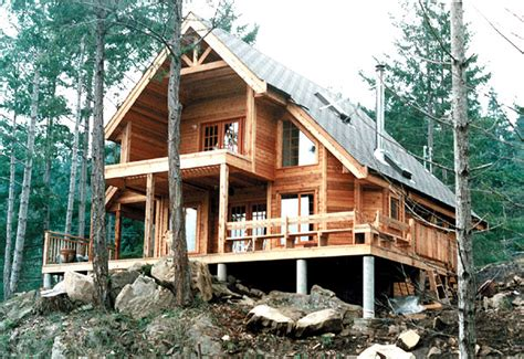 hillside cabin plans coolhouseplans studio design gallery photo