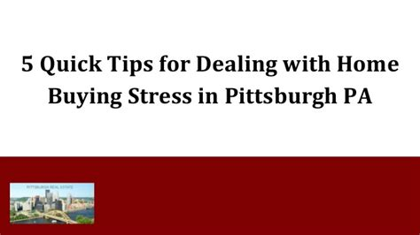 buying a house stress 5 quick tips for dealing with home buying stress in