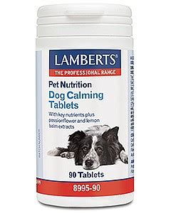calming pills for dogs lamberts calming tablets 90 at health4youonline