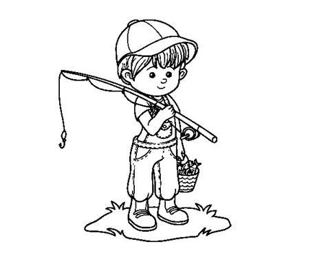 de ni a pescando para imprimir y pintar dibujos para colorear de la dibujo de ni 241 o pescador para colorear dibujos net