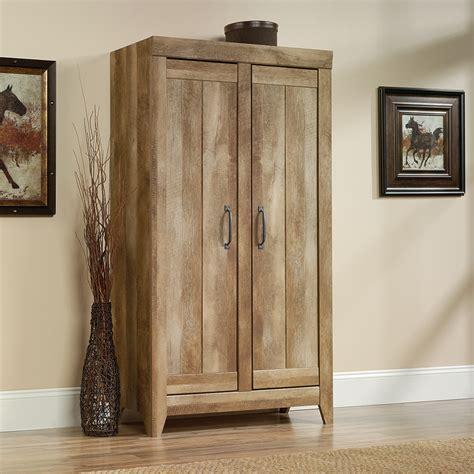 sauder adept storage wide storage cabinet home storage