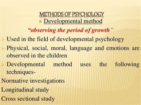 Psychology Cross Sectional Study by Psychology