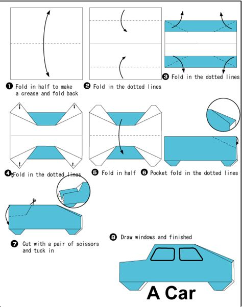 How To Make A Car Paper - how to make an origami car origami origami
