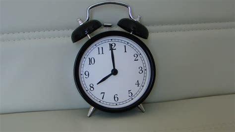 stock clip of morning alarm clock 8 o clock