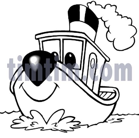 tugboat cartoon movie free drawing of a tugboat bw from the category boat sail