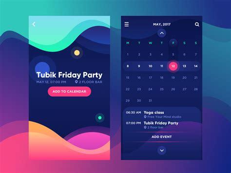 home design app 2017 bright vibe calendar by tubik dribbble