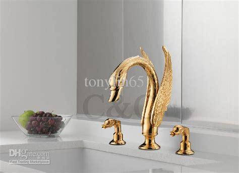 most expensive bathroom fixtures noble luxury swan shape brass bathroom basin faucet 3
