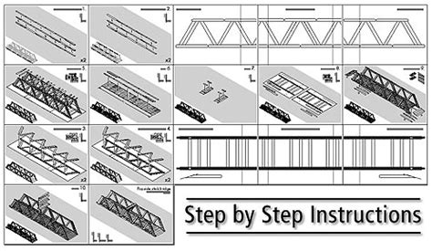 Printable Bridge Instructions | popsicle stick bridge diy family