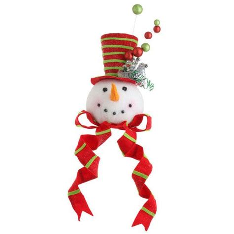 snowman head christmas tree topper christmas pinterest