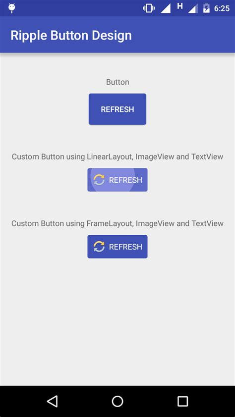 layout marginleft ripple effect touch animation in android for button or