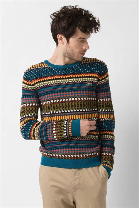 aztec pattern jumper lacoste l ve aztec pattern sweater l ve fashion