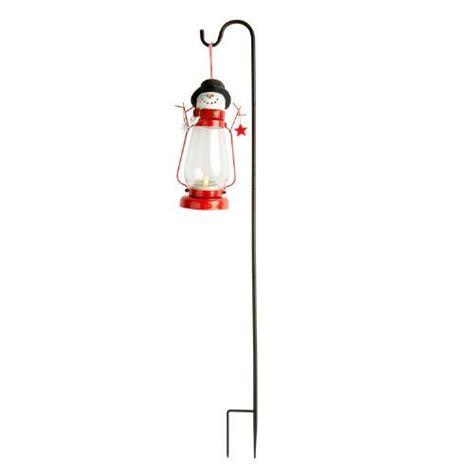 solar snowman lights snowman solar lantern with shepherd s hook