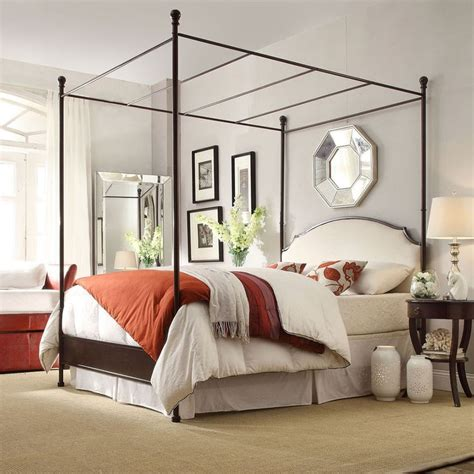 Canopy Beds From The 80s Andover White Curved Top Cherry Brown Metal Canopy