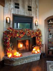 Garland On Fireplace For by Home Decor