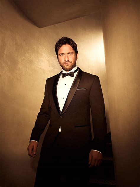 actor that looks like gerard butler gerard butler talks gift giving looks sexy in a bowtie