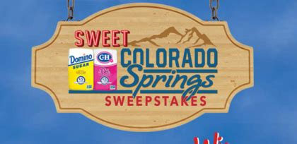 Sweepstakes Colorado - domino sugar sweet colorado springs sweepstakes sun sweeps