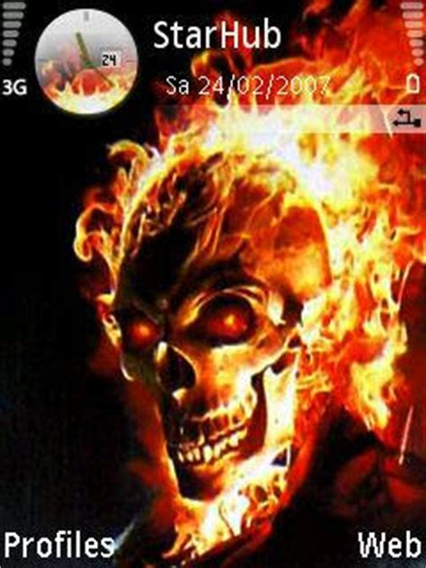 Themes Nokia Ghost | download free ghost rider themes nokia 73 download share