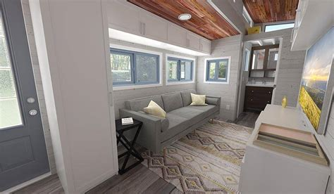 tiny house with bedroom downstairs tiny house modulable une tiny house en bois qui s