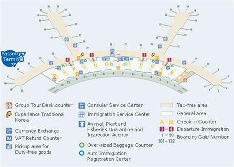 incheon airport floor plan incheon airport map