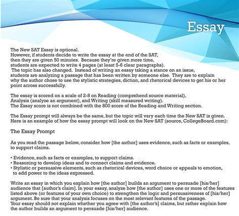 Tips For Writing The Sat Essay by New Sat Essay Practice Test Courses Sat Essay Tips In Nj Usa
