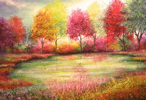 nature colors the of nature depicted in gorgeous vibrant paintings