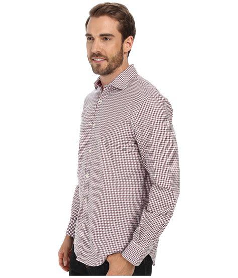 jacquard pattern shirt perry ellis long sleeve jacquard check pattern shirt in