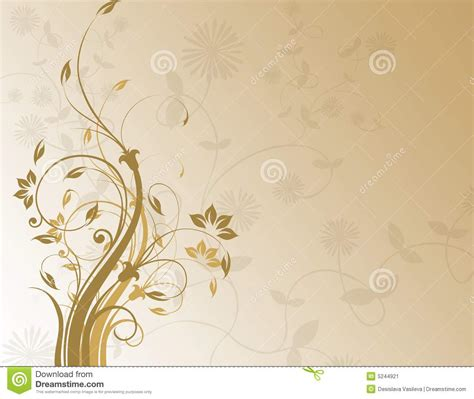 brown floral background stock image image 5244921