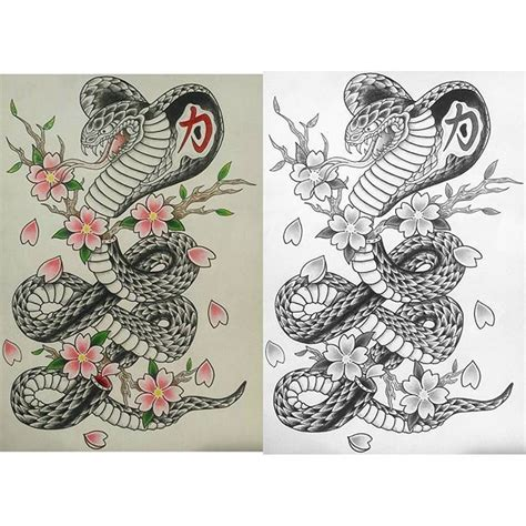 yours truly tattoo cobra in color and black and gray by yours truly