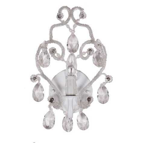Chandelier Sconce Tadpoles 1 Light White Sconce Chandelier Cchasc110 The Home Depot