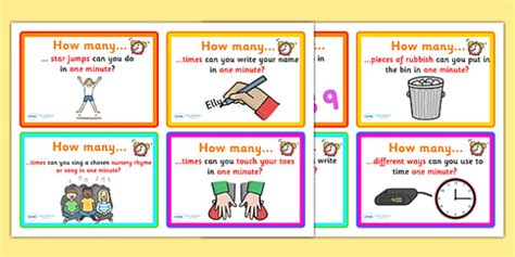minute challenge cards