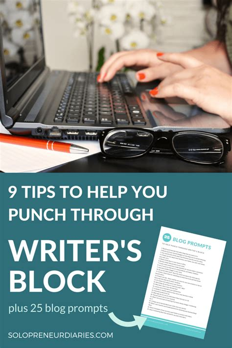 9 Tips To Help You Conquer Stains by 9 Tips To Help You Punch Through Writer S Block