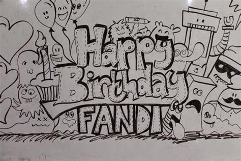 cara membuat doodle happy birthday 45 contoh cara gambar doodle simple sederhana