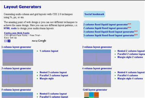 css layout column generator 55 css tools for designers and developers designer mag
