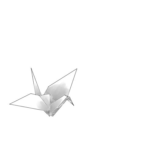 Origami Crane Drawing - origami crane drawing by bkatt500 on deviantart