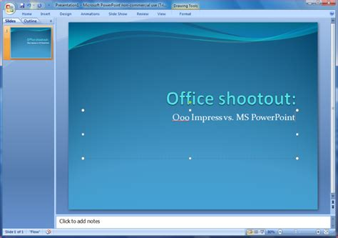 microsoft office templates powerpoint linux office shootout openoffice org impress vs