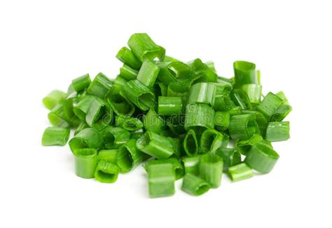 chopped green onions stock image image of object salad 42106161