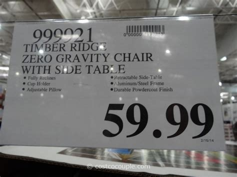 Costco Anti Gravity Lounge Chair timber ridge zero gravity lounge chair