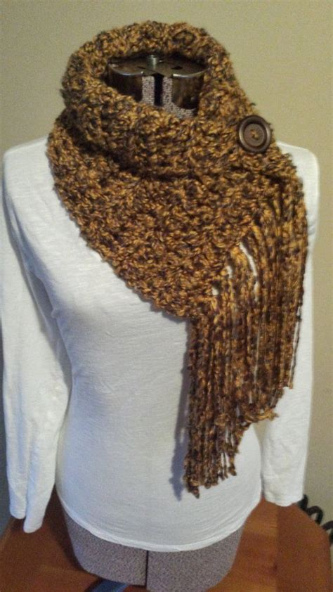 Zoya Scarf 8 fringe scarf with button infinity scarf button cowl chunky scarf fringe scarf fringes and
