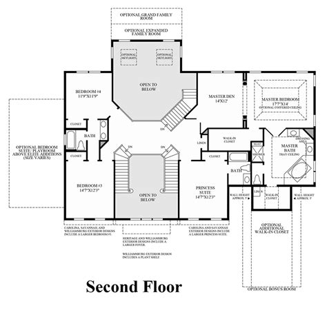 toll brothers homeigns house plan floor plansign