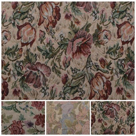 tapestry fabric upholstery english traditional vintage floral garden tapestry