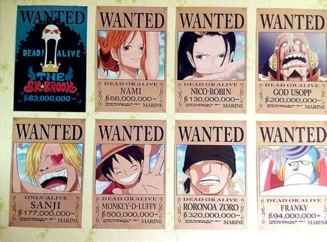 membuat poster wanted one piece 8 42x29cm new one piece wanted posters anime posters wall
