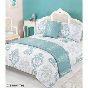floral bed in a bag king size eleanor teal 2941474 b m